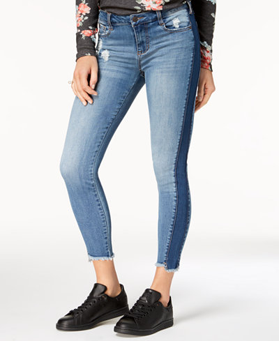 Celebrity Pink Juniors' Two-Tone Skinny Jeans