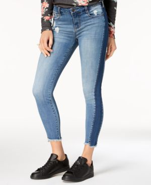 Celebrity Pink Juniors' Two-Tone Skinny Jeans 5499592