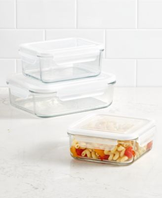 Martha Stewart Collection Square 245 Qt Glass Storage Container