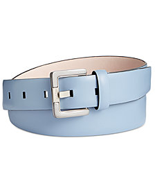 Calvin Klein Two-Tone-Buckle Leather Belt