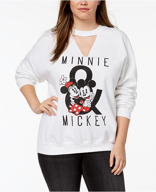 dfa0ea2bb08c3 Plus Size Minnie   Mickey Mouse Cutout Sweatshirt. 5 reviews. main image   main image ...