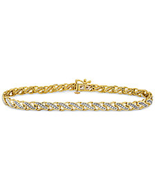 Diamond Swirl Tennis Bracelet (1/2 ct. t.w.) in 10k Gold or White Gold