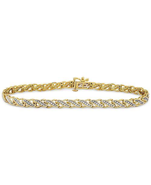 Macy's Diamond Swirl Tennis Bracelet (1/2 ct. t.w.) in 10k Gold or White Gold