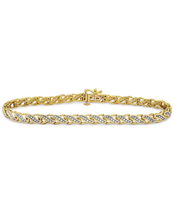 Macy's - Diamond Swirl Tennis Bracelet (1/2 ct. t.w.) in 10k Gold or White Gold