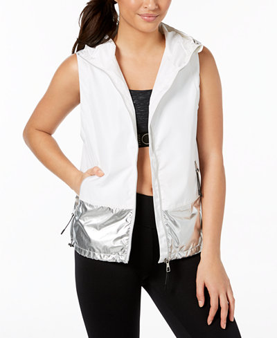 Calvin Klein Performance Colorblocked Metallic Sleeveless Vest