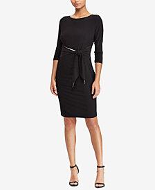 Lauren Ralph Lauren Contrast-Back Jersey Dress