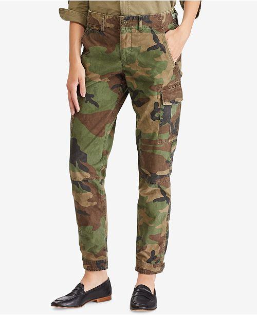 Polo Ralph Lauren Camo Cotton Cargo Pants - Pants   Capris - Women ... e2c9fbf5c