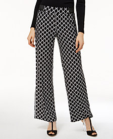I.N.C. Geometric Wide-Leg Soft Pants, Created for Macy's