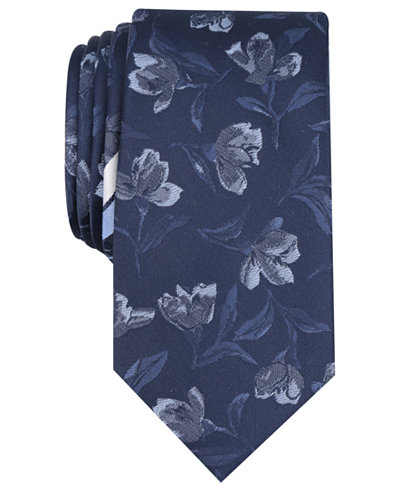 Bar III Men's Park Floral Skinny Tie, Created for Macy's