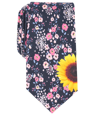 Bar III Men's Betty Floral Skinny Tie, Created for Macy's