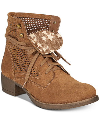 Ramona Lace Up Combat Boots, Created For Macy's by American Rag