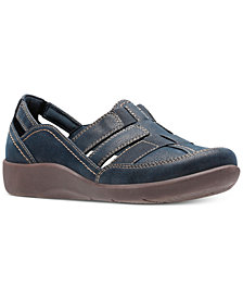 Clarks Collection Women's Cloud Steppers Sillian Stork Flats