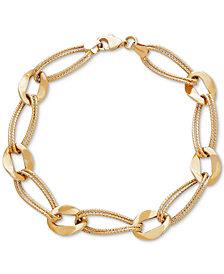 Marina Double Link Bracelet in 14k Gold
