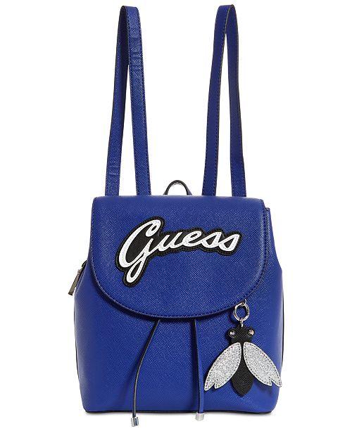 7ef303b143 GUESS Varsity Pop Logo Pin Up Backpack   Reviews - Handbags ...
