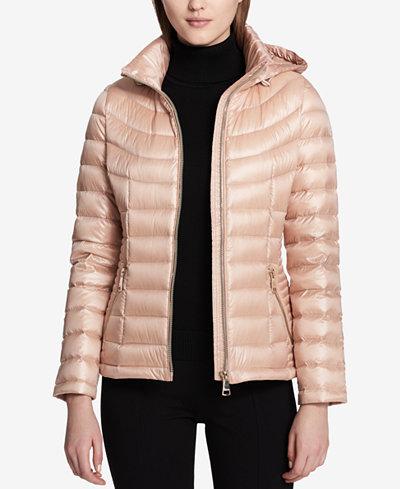 Calvin Klein Smocked Down Puffer Coat