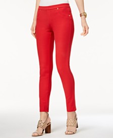 MICHAEL Michael Kors Stretch Twill Leggings in Regular & Petite Sizes