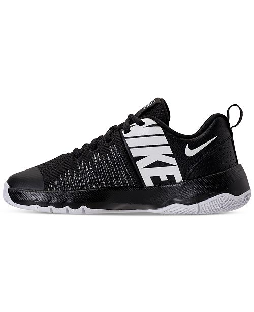 0af666241442 ... Nike Big Boys  Team Hustle Quick Basketball Sneakers from Finish ...
