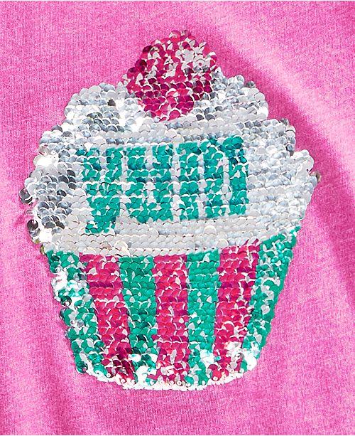 2565824a8 ... Kandy Kiss Reversible-Sequin Cupcake Cold Shoulder Top, Big Girls ...