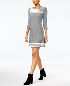 Jessica Howard Petite Patterned Sweater Dress