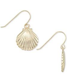 Shell Drop Earrings in 10k Gold