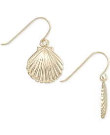 Shell Drop Earrings in 10k Gold