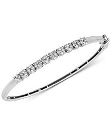 Diamond Bangle Bracelet (1 ct. t.w.) in 14k White Gold