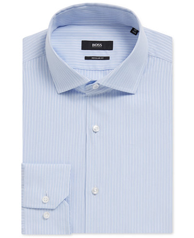 BOSS Men's Regular/Classic-Fit Striped Cotton Dress Shirt