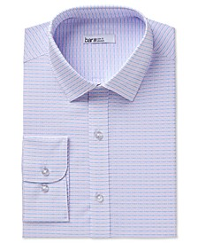 Men's Classic/Regular-Fit Stretch Horizontal Stripe Dobby Dress Shirt, Created for Macy's