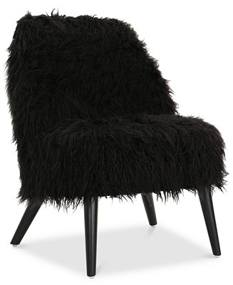 Noble House Lucee Faux Fur Accent Chair Amp Reviews Chairs