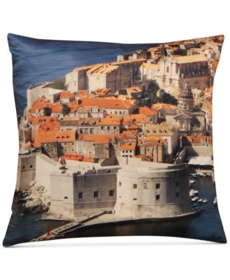 "LAST ACT! Dubrovnik Graphic-Print 18"" Square Decorative Pillow"