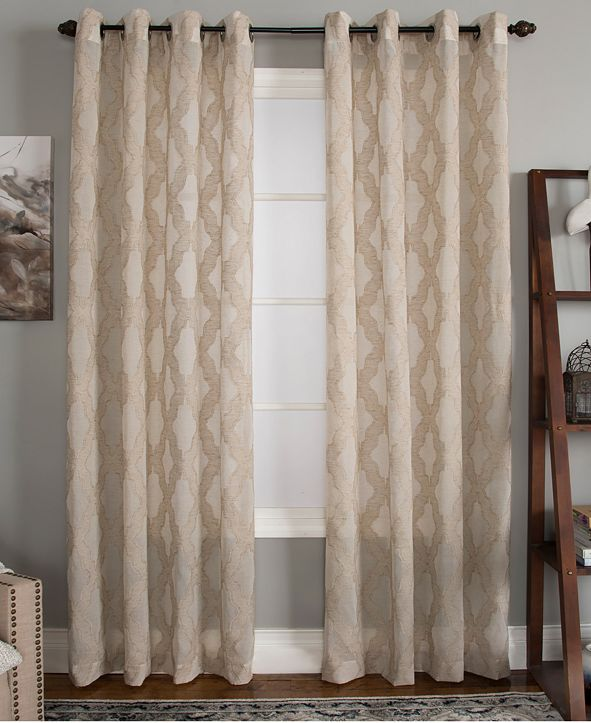 "Miller Curtains CLOSEOUT! Clip 50"" x 63"" Geometric Window Panel"