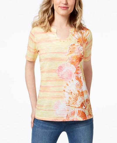Alfred Dunner Still My Sunshine Beaded T-Shirt
