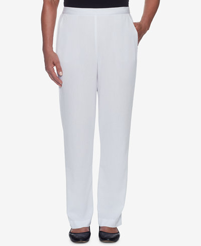 Alfred Dunner Still My Sunshine Pull-On Pants