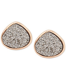 Kenneth Cole New York Druzy Stone Stud Earrings