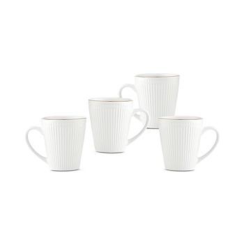 Godinger Republique 4-Piece Set of Gold Band Mugs