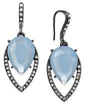 I.N.C. Hematite-Tone Pavé & Blue Stone Drop Earrings, Created for Macy's