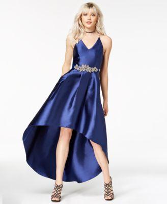 Sapphire High Low Formal Dresses