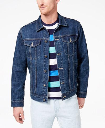 Club Room Men's Stretch Denim Jacket, Created for Macy's