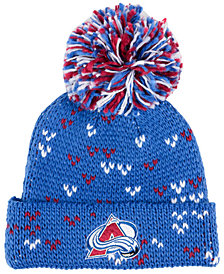 adidas Women's Colorado Avalanche Cuffed Pom Knit
