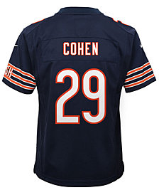 Nike Tarik Cohen Chicago Bears Game Jersey, Big Boys (8-20)