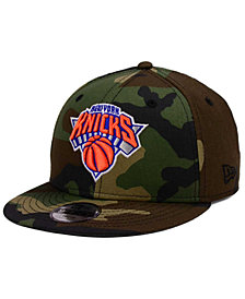 New Era Boys' New York Knicks Woodland Team 9FIFTY Snapback Cap
