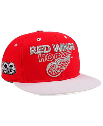 adidas Detroit Red Wings 100th Celebration Snapback Cap