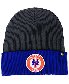 '47 Brand New York Mets Ice Block Cuff Knit Hat