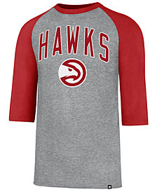 '47 Brand Men's Atlanta Hawks Zone Raglan Three-Quarter Sleeve T-Shirt