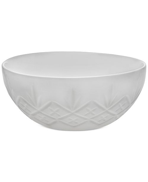 Godinger Dublin White Large Bowl