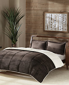 Premier Comfort Reversible Micro Velvet and Sherpa Down Alternative Pillows and Comforters