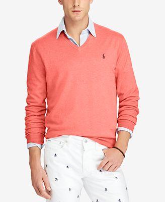 Polo Ralph Lauren Mens V Neck Sweater Sweaters Men Macys