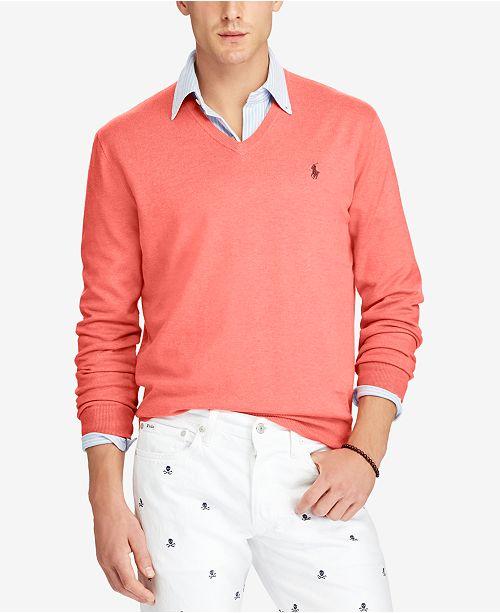6a2f6d6028ce Polo Ralph Lauren Men s V-Neck Sweater   Reviews - Sweaters ...