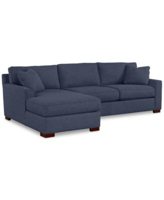 Carena 2-Pc. Fabric Chaise Sectional Sofa - Custom Colors, Created for Macy's