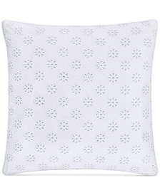 "Piper & Wright Lucy 16"" Embroidered Square Decorative Pillow"